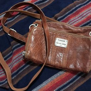 Fossil Cross-Body Leather Purse